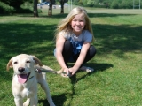 Bunty with Katherine at 12weeks old!