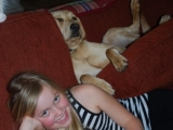 Melvin doing what he does  best - lounging around....with Katherine!
